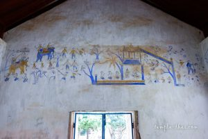 Les peintures murales sur la partie supérieure des murs