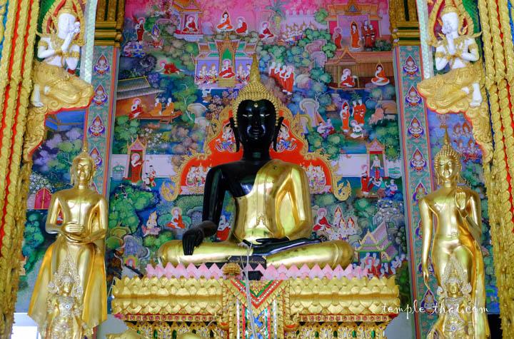 Bouddha bicolore, noir et doré
