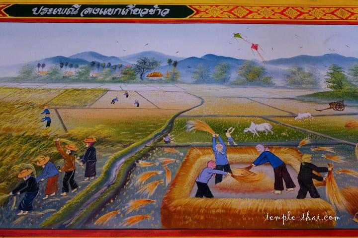 La vie à la campagne, la récolte du riz