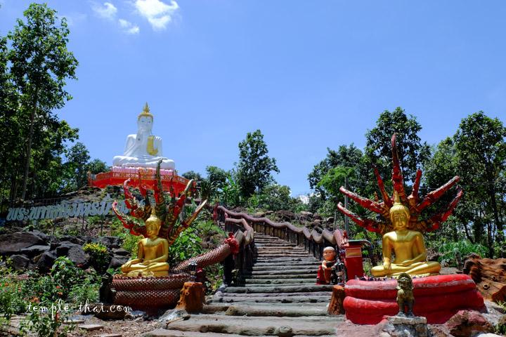 Escalier vert le bouddha