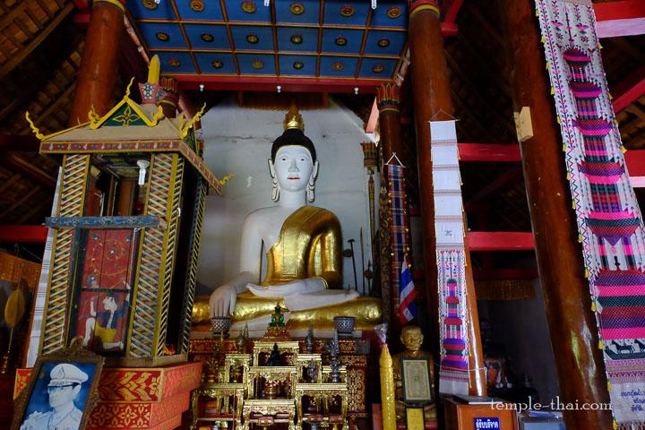 bouddha blanc et doré