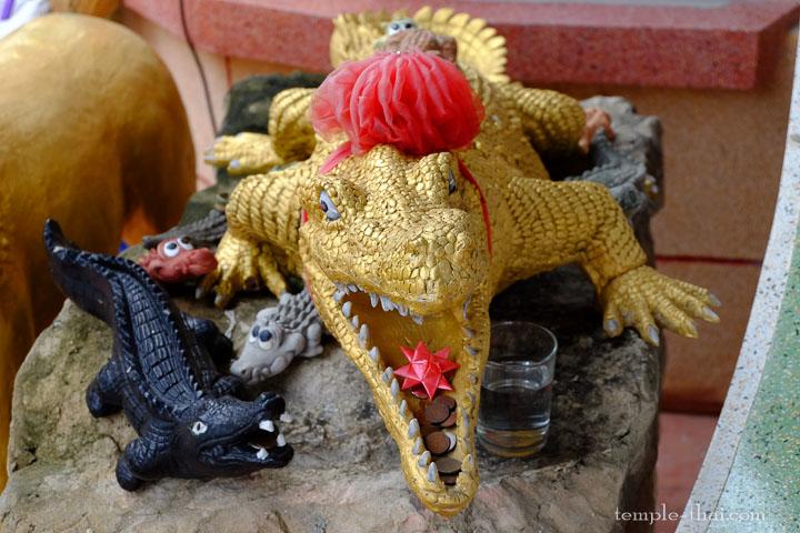crocodile dans la pagode chinoise