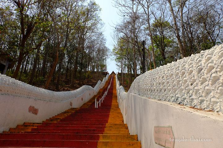 Escalier rouge et orange