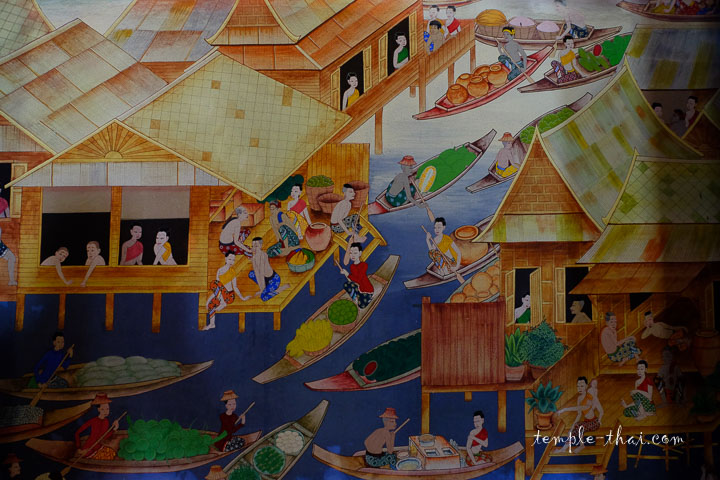 Peintures dans le Viharn