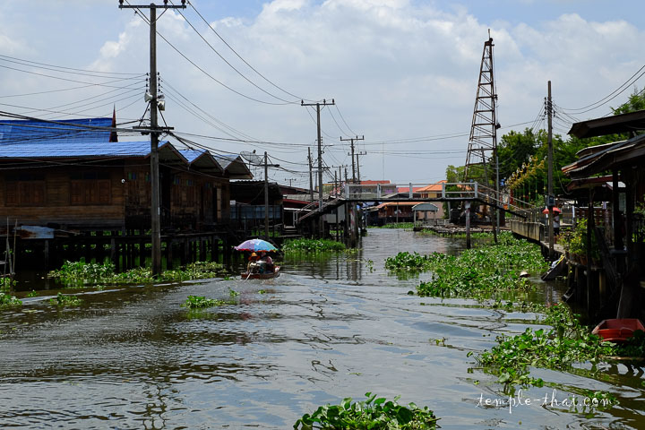 Bâteau sur un canal au nord de Bangkok
