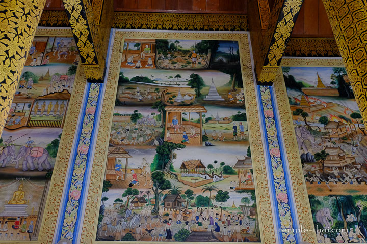 peintures murales dans un temple