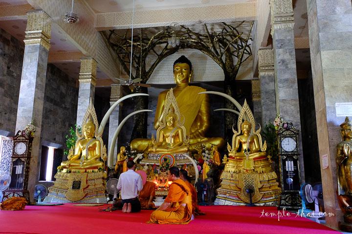 La salle d'ordination et son bouddha