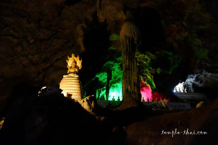 La grotte et ses lumières