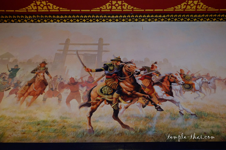 Le roi Taksin en plein combat