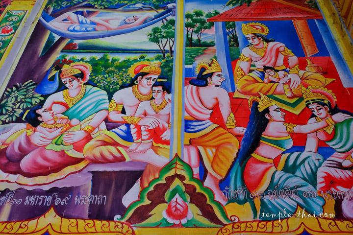 Peinture murale rappelant l'Inde