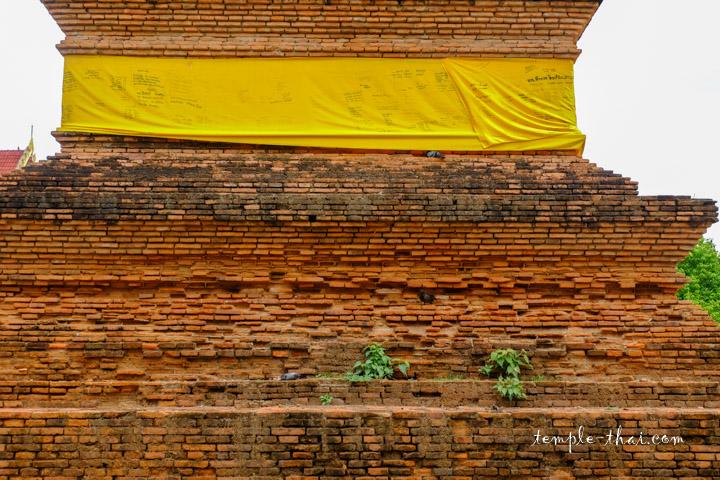 Base du stupa en brique