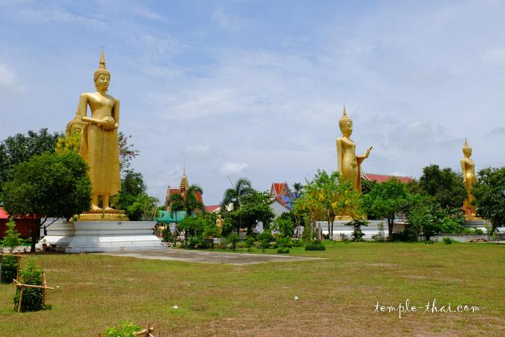 Trois des cinq bouddhas