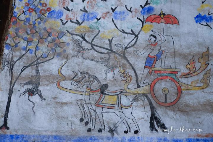Peinture murale bouddhiste