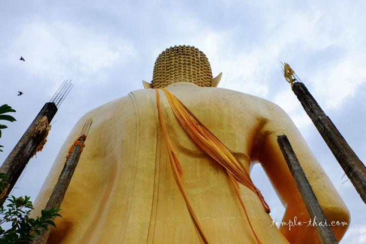Le dos du bouddha géant