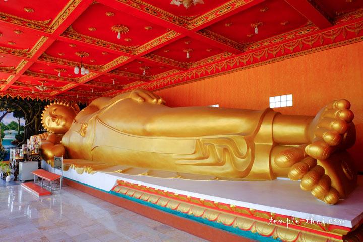 le long bouddha allongé