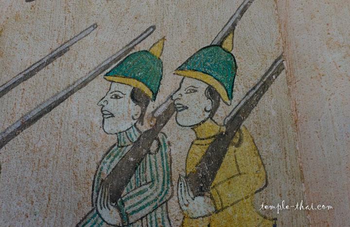 Soldats verts et jaunes