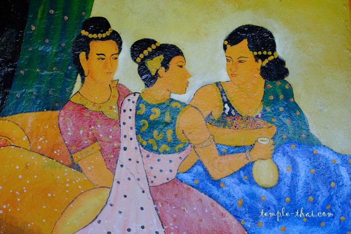 Trois femmes peintes